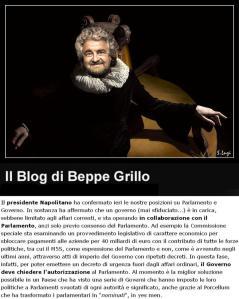 Beppe Grillo ciambellano