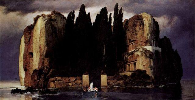 Arnold_Böcklin, L'isola dei Morti, quinta versione