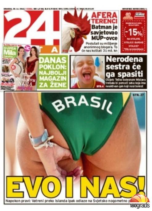 bunda brasileira giornale croato
