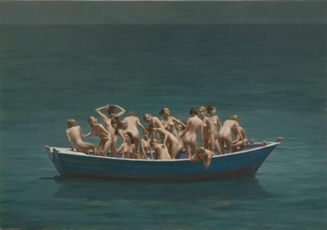 © Harry Holland, Boat, huile sur toile, 2008, 86x122cm