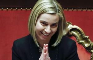 Fabrizia Mogherini ministra degli Esteri (sic!)
