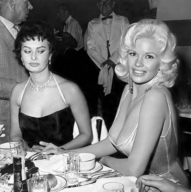 Sofia Loren e Jane Mansfield