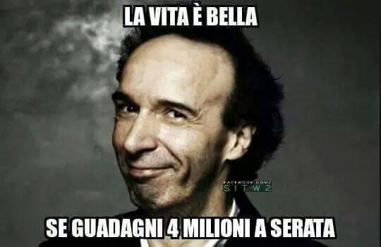 Roberto Benigni secondo Aldo Rossi