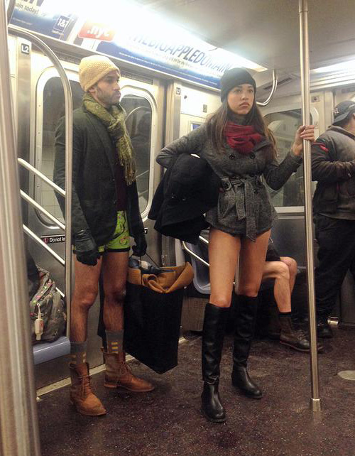 No pants day in the States
