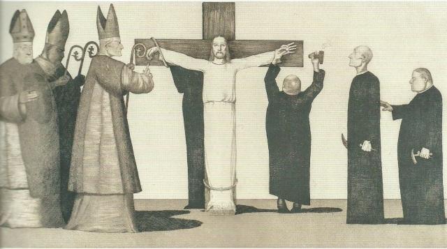 Joseph Uhl, Cristo crocifisso dalla Chiesa, 1915/1920 circa