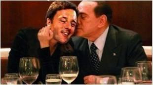 Bacio Berlusconi Renzi
