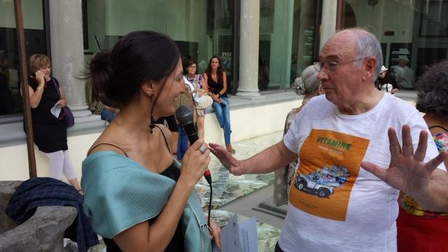 Valentina Gensini e Carlo Palli al museo del'900 di fi/renzi 18/09/ 2015