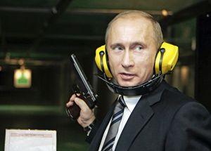 Vladimir Putin al tiro a segno