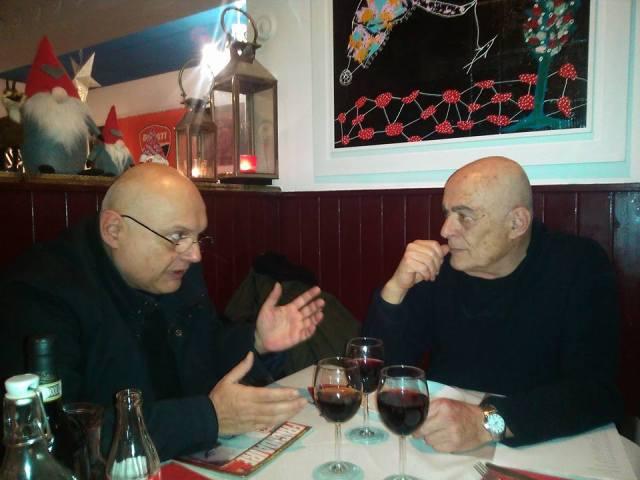 Gian Ruggero Manzoni e Aldo Ricci ph Maria Vitola