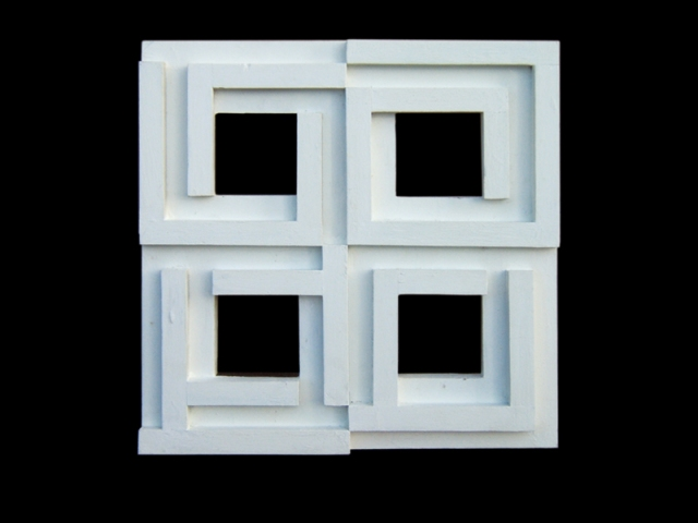 Diana Baylon, Bianco, 1975, 50x50x5 cm